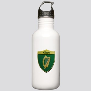 Ireland Metallic Shield Water Bottle