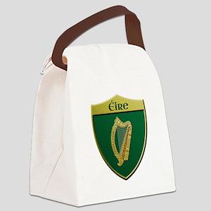 Ireland Metallic Shield Canvas Lunch Bag