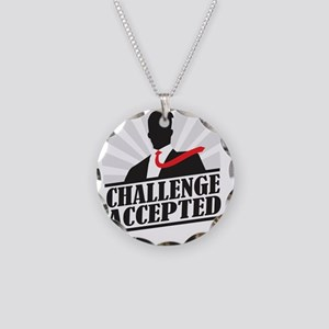 challengeaccepted Necklace Circle Charm