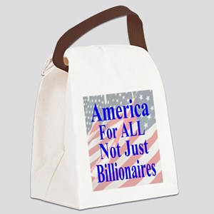 America for ALL 35  Flags  Canvas Lunch Bag