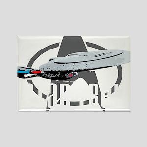 Star-Trek-TNG-blk Rectangle Magnet