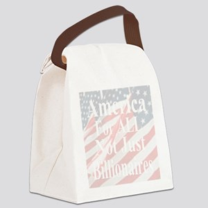 America for ALL  20-w Flags impro Canvas Lunch Bag