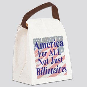 America for ALL 35  dk-bl  Flags  Canvas Lunch Bag