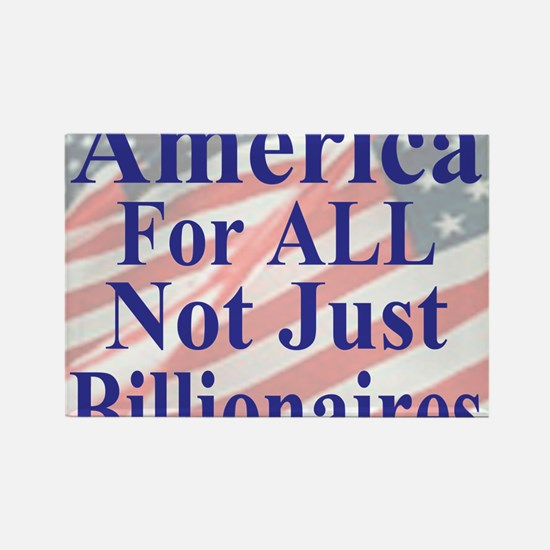 America for ALL 35  dk-bl  Flags  Rectangle Magnet