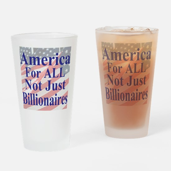 America for ALL 35  dk-bl  Flags Ca Drinking Glass