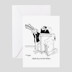 Court Cartoon 5490 Greeting Card