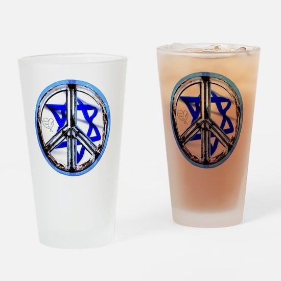 peace_heart_jewish_star Drinking Glass