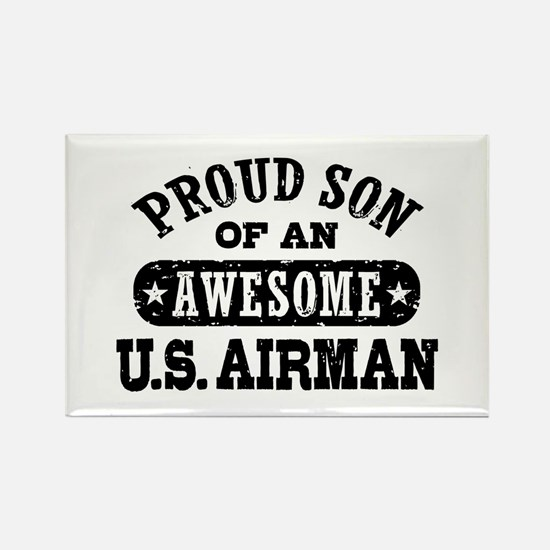 Proud Son of an Awesome US Airman Rectangle Magnet