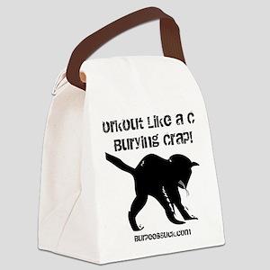 CAT CRAP - WHITE Canvas Lunch Bag