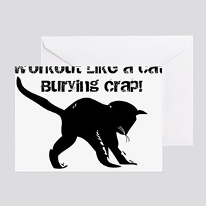 CAT CRAP - WHITE Greeting Card