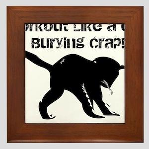 CAT CRAP - WHITE Framed Tile