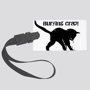 CAT CRAP - WHITE Large Luggage Tag