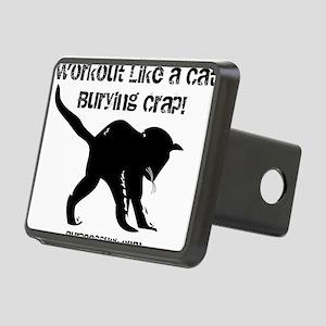 CAT CRAP - WHITE Rectangular Hitch Cover