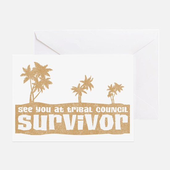 see-you-tribal-council Greeting Card