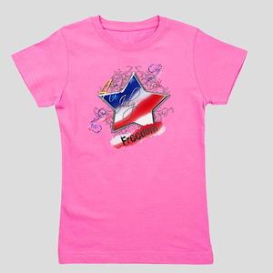 4th July Star Freedom Girl's Tee