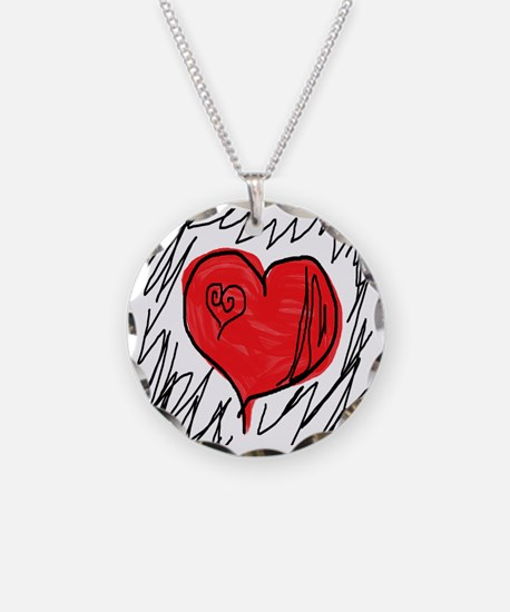10x10_scribbleheart Necklace