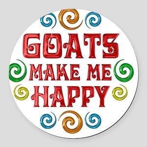 goat Round Car Magnet