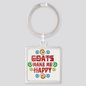 goat Square Keychain