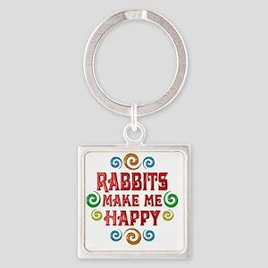 rabbit Square Keychain
