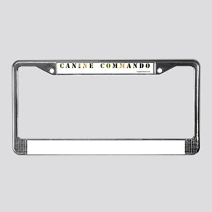 ga_caninecommandobowl License Plate Frame