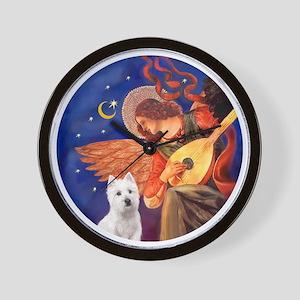 J-ORN-Angel3-Westie-P Wall Clock