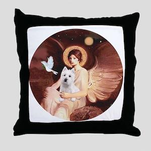 J-ORN-Angel1-Westie-P Throw Pillow