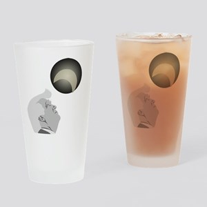 Trump and the Solar Eclipse Drinking Glass