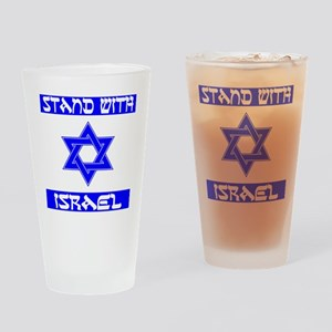 StandWithIsraelFlag Drinking Glass