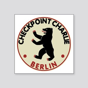 "checkpointcharliedark Square Sticker 3"" x 3"""
