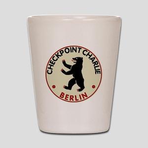 checkpointcharliedark Shot Glass