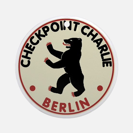 checkpointcharliedark Round Ornament