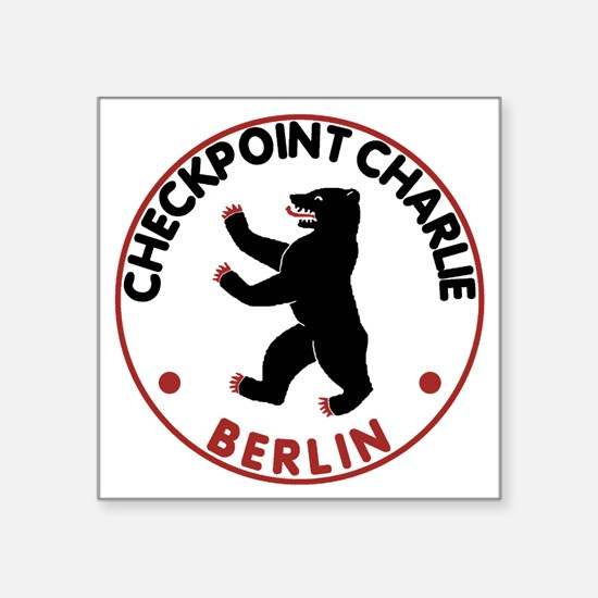 "checkpointcharlietran Square Sticker 3"" x 3"""