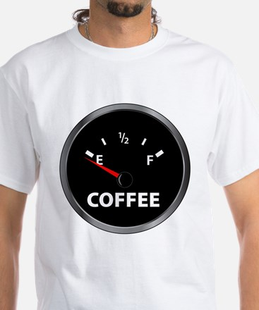 Out of Coffee White T-Shirt