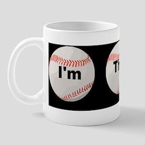 Im the little brother baseball threed Mug