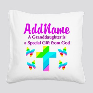 MY GRANDDAUGHTER Square Canvas Pillow