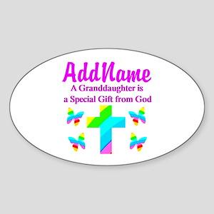 MY GRANDDAUGHTER Sticker (Oval)
