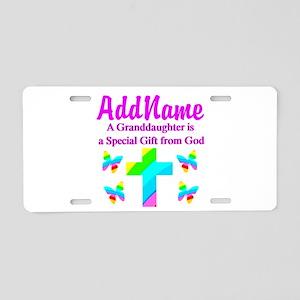 MY GRANDDAUGHTER Aluminum License Plate