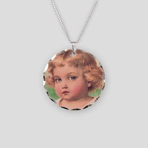 Cherub Necklace Circle Charm
