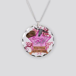 CowGirl Wild Thing never bee Necklace Circle Charm