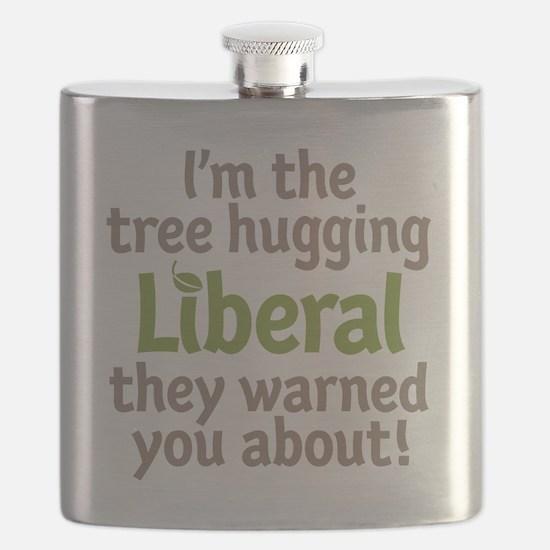 Tree Hugging Liberal Flask