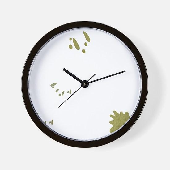 FIN-birds-rock-poopy-WonB Wall Clock