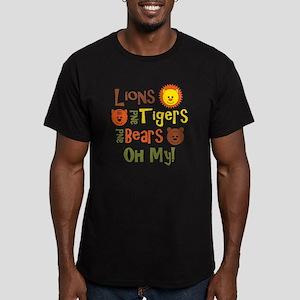 lionstigersbears Men's Fitted T-Shirt (dark)