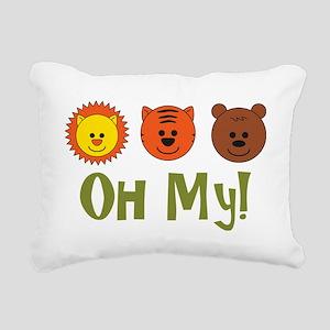 lionstigersbears2 Rectangular Canvas Pillow