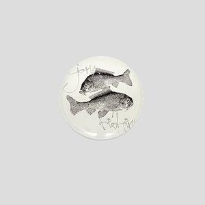 Gone Fishin Mini Button