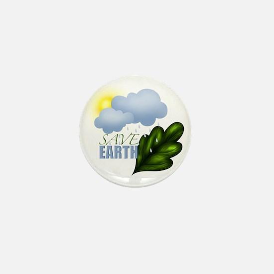 Save Earth Mini Button
