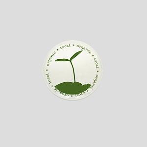Local  Organic Mini Button