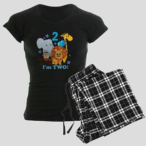 baby2JungleAnimals Women's Dark Pajamas