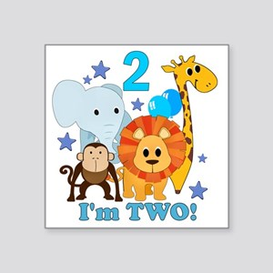 "baby2JungleAnimals Square Sticker 3"" x 3"""