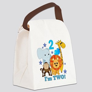 baby2JungleAnimals Canvas Lunch Bag
