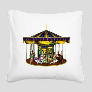 goldencarousel Square Canvas Pillow